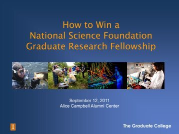 research - The Graduate College at Illinois