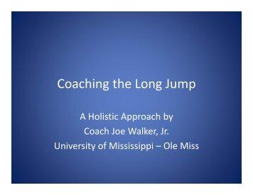 Coaching the Long Jump - USTFCCCA