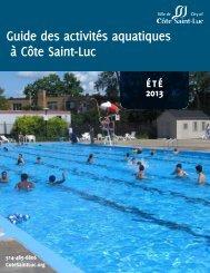 Programmes aquatiques - City of Côte Saint-Luc