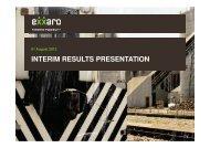 INTERIM RESULTS PRESENTATION - Exxaro