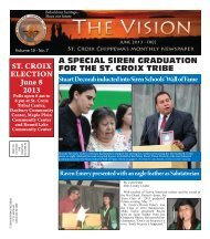 ST. CROIX ELECTION June 8 2013 - St. Croix Tribe