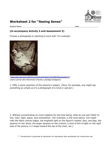Worksheet 2 for - EDSITEment