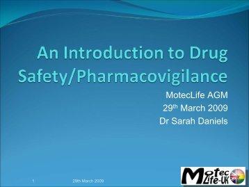 Introduction to Pharmacovigilance - MOTEC LIFE-UK