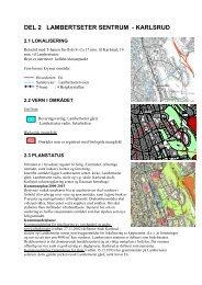 DEL 2 LAMBERTSETER SENTRUM - KARLSRUD - Plan