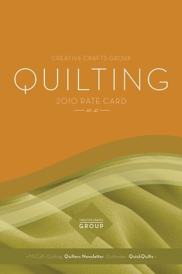 Creative Crafts Group - Quilters Newsletter