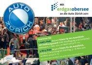 Mit an die Auto Zürich 2011 - Erdgas Obersee AG