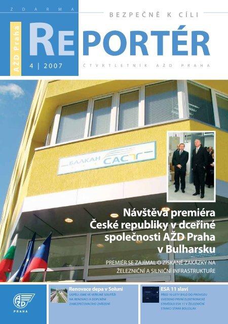 Reportér 2007/4 - AŽD Praha, sro