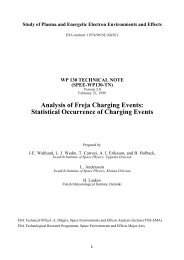Analysis of Freja Charging Events: Statistical Occurrence of ... - FMI