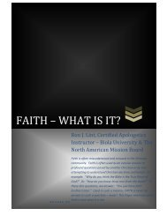 FAITH – WHAT IS IT? - Excellent Evidence