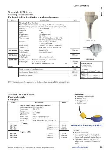 Elektrode switch kari float switch float level switches intech nz catalogue 2013 sciox Image collections