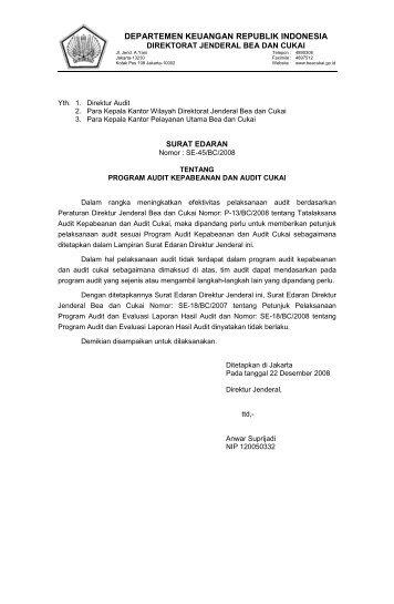 Program Audit Kepabeanan dan Audit Cukai