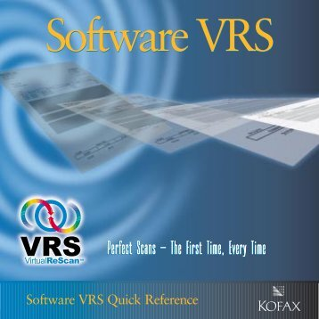 VRS 2.1 Quick Reference - Visioneer