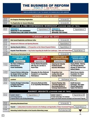 Agenda At A Glance - World Congress