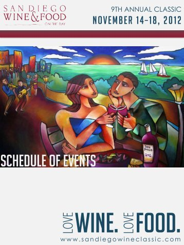 Download Schedule - San Diego Bay Wine and Food Festival