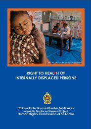 Right to Health of Internally Displaced Persons - IDP SriLanka