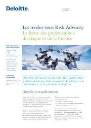 Les rendez-vous Risk Advisory La lettre des ... - Deloitte