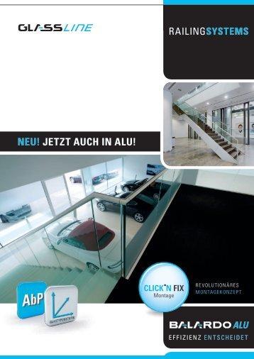 Flyer BALARDO ALU - Glassline GmbH