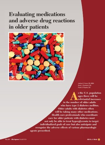 Evaluating medications and adverse drug reactions in older ... - CECity