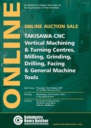 TAKISAWA CNC Vertical Machining & Turning Centres, Milling ...