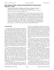 Zero electron kinetic energy and photoelectron spectroscopy of the ...