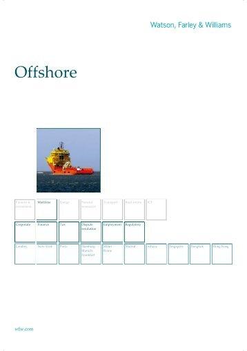 Offshore Brochure - Watson, Farley & Williams