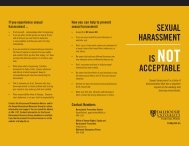 Sexual HaRaSSMeNT IS NOT aCCePTaBle - Dalhousie University