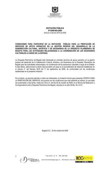 Consulte - Orquesta Filarmónica de Bogotá