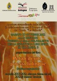 Petali di vita: poesia bilingue - Comune di Bologna
