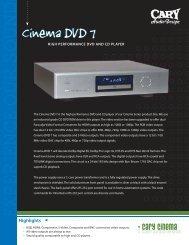 Literature Sheet - Cary Audio Design