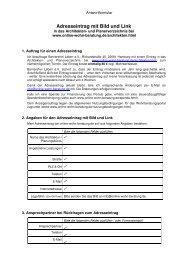 Formular für Adresseintrag bei online-wohn-beratung.de