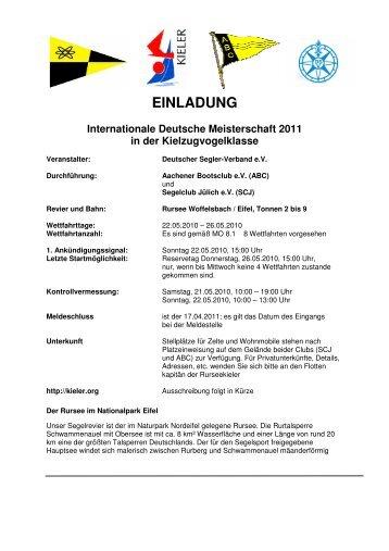 EINLADUNG Internationale Deutsche Meisterschaft 2011 in der ...