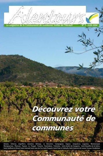 Alentours No 1 - Communauté de Communes Vallée de l'Hérault