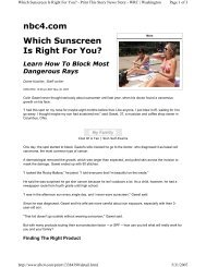 Which Sunscreen Is Right For You? - West Palm Beach Dermatologist