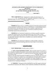 advised scholarship endowment fund agreement - The Community ...