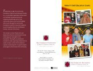 Robert P. Bell Education Grants - The Community Foundation of ...