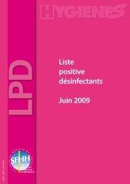 Liste positive désinfectants Juin 2009 - NosoBase