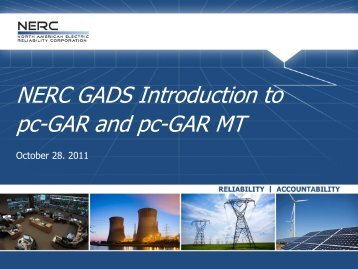 NERC GADS Introduction to pc-GAR and pc-GAR MT - SERC Home ...