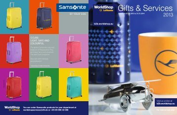 Gifts & Services - Lufthansa WorldShop