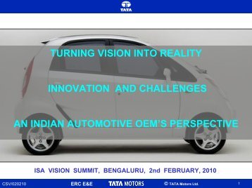 turning vision into reality innovation and challenges - india ...