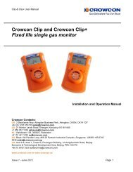 Crowcon Clip and Crowcon Clip+ Fixed life ... - Elma Instruments