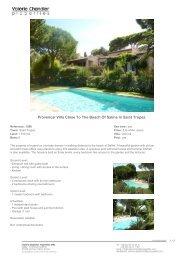 Provencal Villa Close To The Beach Of Salins In Saint Tropez