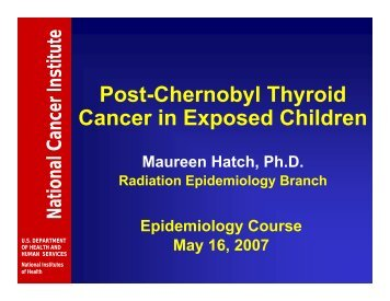 Post-Chernobyl Thyroid Cancer in Exposed Children - Radiation ...
