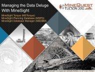 MineSight DataBase Manager