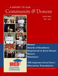 2012-2013 Annual Report - Hurst-Euless-Bedford ISD