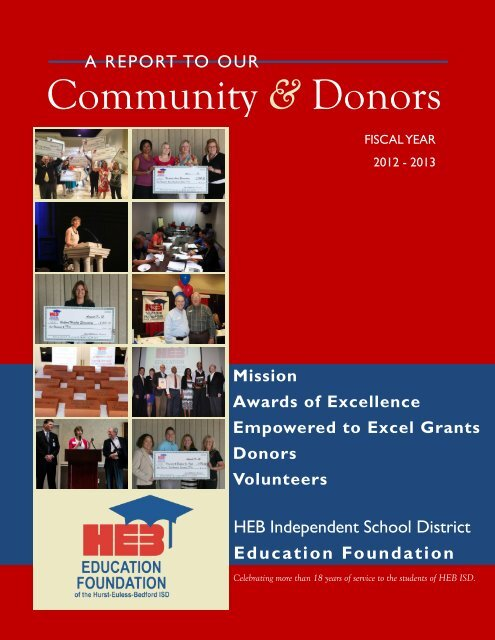 2012 2013 Annual Report Hurst Euless Bedford Isd