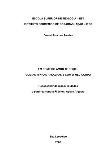 ESCOLA SUPERIOR DE TEOLOGIA – EST ... - Faculdades EST