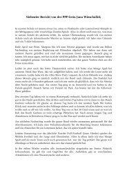 Siebenter Bericht von der PPP-lerin Jana Wieschollek - Gerold ...