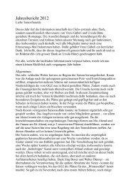 Jahresbericht 2012.pages - Tennis-Sportclub Zürich