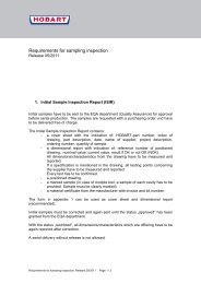 Requirements for sampling inspection