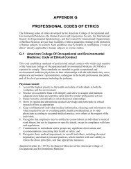 Professional Codes of Ethics - Department of Energy Human ...